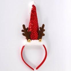 Ободок новогодний Колпачок с рожками 30*11см