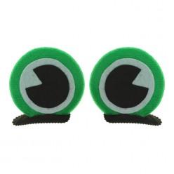 Глаза лягушки на зажимах (плюш) 6см