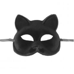 Маска Кошечка чёрная (пластик) 14,5*17см