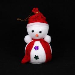 Подвеска Снеговик пуговки-цветы 17,5*8,5*8,5см (пенопласт)