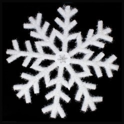 Снежинка объёмная 66см белая (пенополиэтилен)