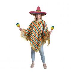 Мексиканское пончо (цветные полосы)