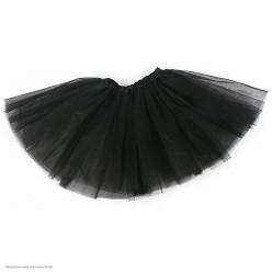 Юбка детская Фатиновая 3-слойная 40см чёрная