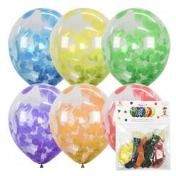 """Набор шаров с конфетти """"Многоцветные"""" 12""""/30см 5шт"""