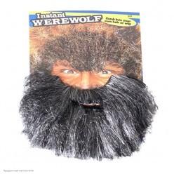 Борода Полуседая лохматая 21см (на резинке)