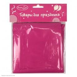 Скатерть ярко-розовая 121*183см (клеёнка)