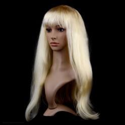 Парик Прямой с чёлкой 70 см (блондинка)