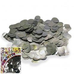 Конфетти фольга Круги серебро 100гр, 2см