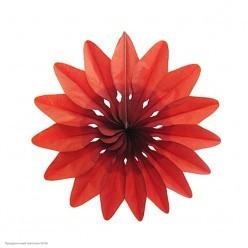 """Фант бумажный """"Цветок"""" 36см красный"""