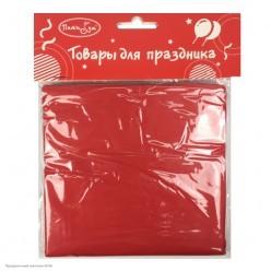 Скатерть красная 121*183см (клеёнка)