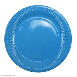 Тарелки голубые 18см 6шт, бумага