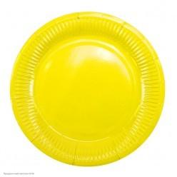 Тарелки жёлтые 18см 6шт, бумага