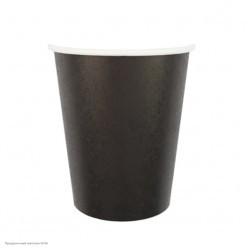 Стаканы чёрные 250мл 6шт, бумага