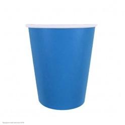 Стаканы голубые 250мл 6шт, бумага