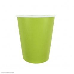 Стаканы зелёные 250мл 6шт, бумага