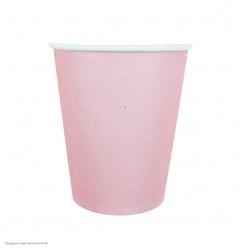 Стаканы розовые 250мл 6шт, бумага