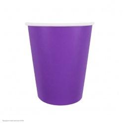 Стаканы фиолетовые 250мл 6шт, бумага