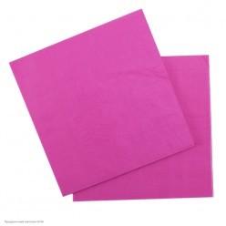 Салфетки ярко-розовые 33*33см, 12шт