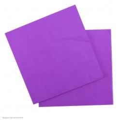 Салфетки фиолетовые 33*33см, 12шт