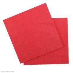 Салфетки красные 33*33см, 12шт