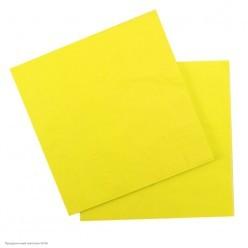 Салфетки жёлтые 33*33см, 12шт