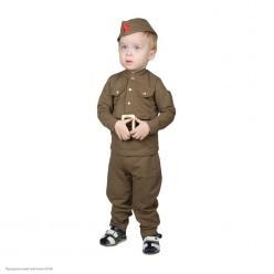 """Костюм детский """"Солдат ВОВ"""" малыш, 92 см, 1,5-3 года"""