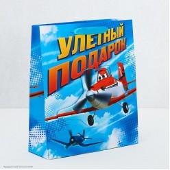 """Пакет-открытка 23*27*8см """"Улётный подарок"""" Самолёты"""