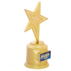 "Награда Звезда ""Золотой мужчина"" (пластик) 16,5*8,5*6,3см"