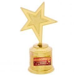 "Награда Звезда ""Мастер золотые рук"" (пластик) 16,5*8,5*6,3см"