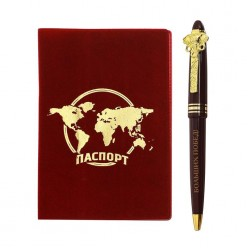 """Набор Обложка на паспорт +ручка """"Великих открытий"""""""