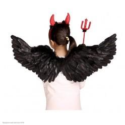 Крылья Ангела чёрные 65*35см (перо, картон)
