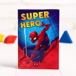 "Блокнот ""Super hero"" Человек Паук 32л, 9,5*14см"