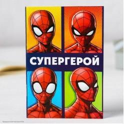 """Блокнот """"Супергерой"""" Человек Паук 32л, 10*14,5см"""